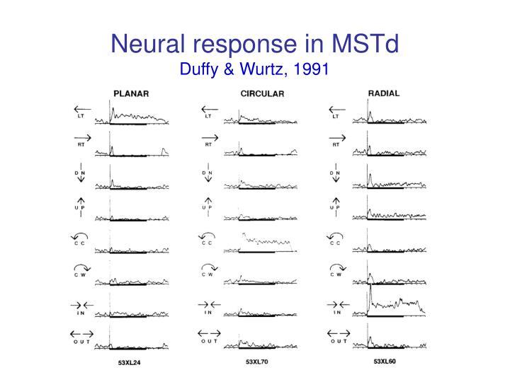 Neural response in MSTd