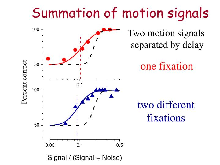 Summation of motion signals