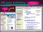 db query publishing example