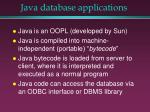 java database applications