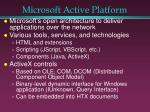 microsoft active platform