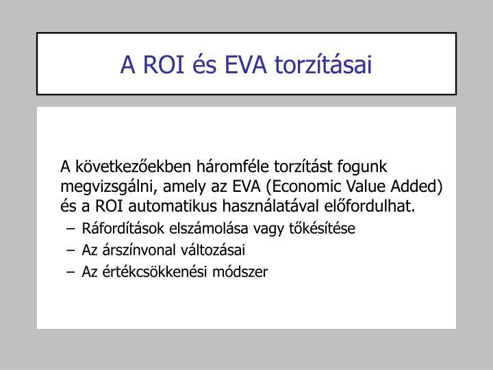 A ROI és EVA torzításai