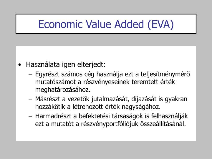 Economic Value Added (EVA)