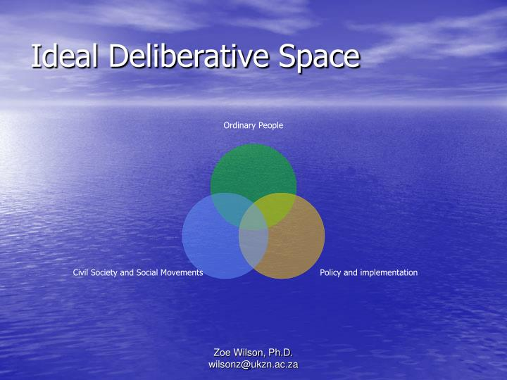 Ideal Deliberative Space