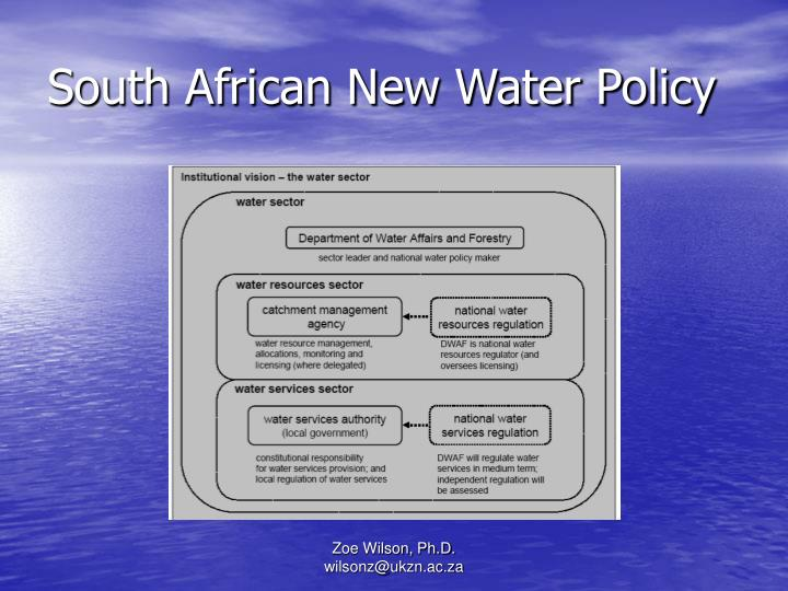 South African New Water Policy