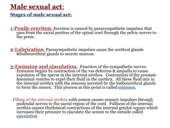 Male sexual act