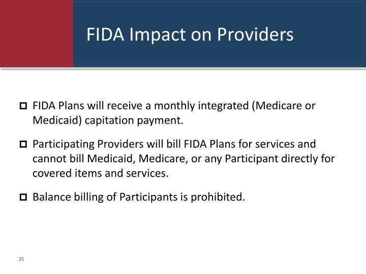FIDA Impact on Providers