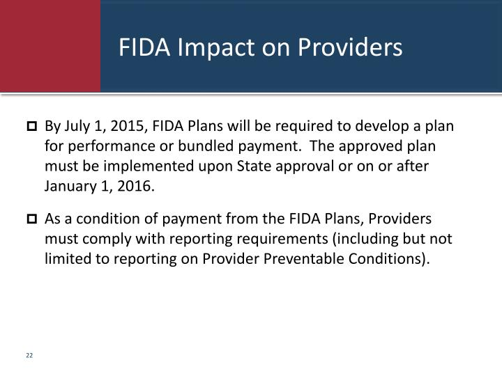 FIDA Impact on Providers