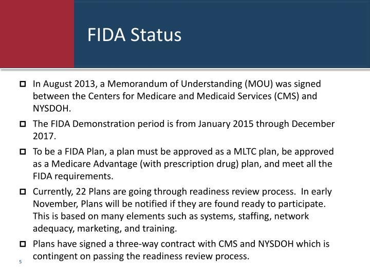 FIDA Status