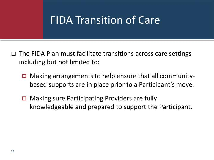 FIDA Transition