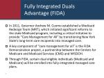 fully integrated duals advantage fida