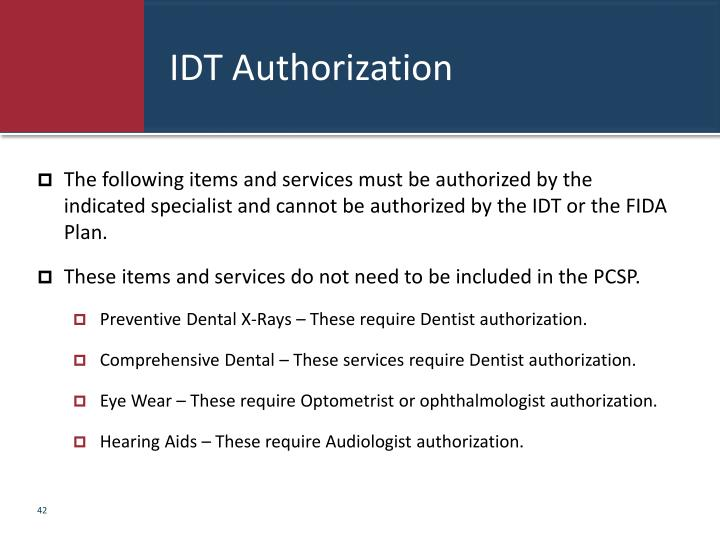 IDT Authorization