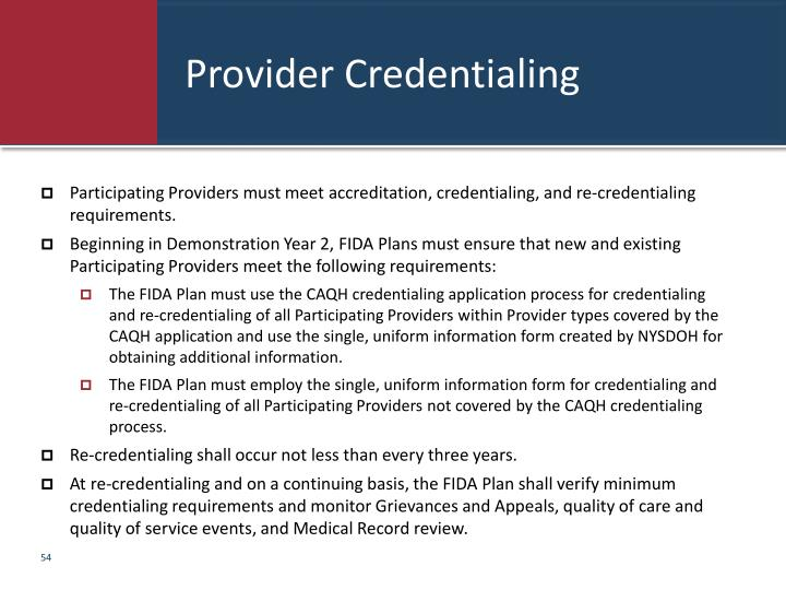 Provider Credentialing