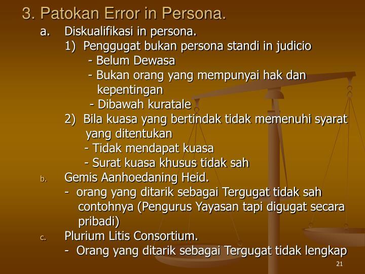 3. Patokan Error in Persona.