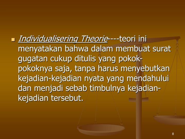 Individualisering Theorie