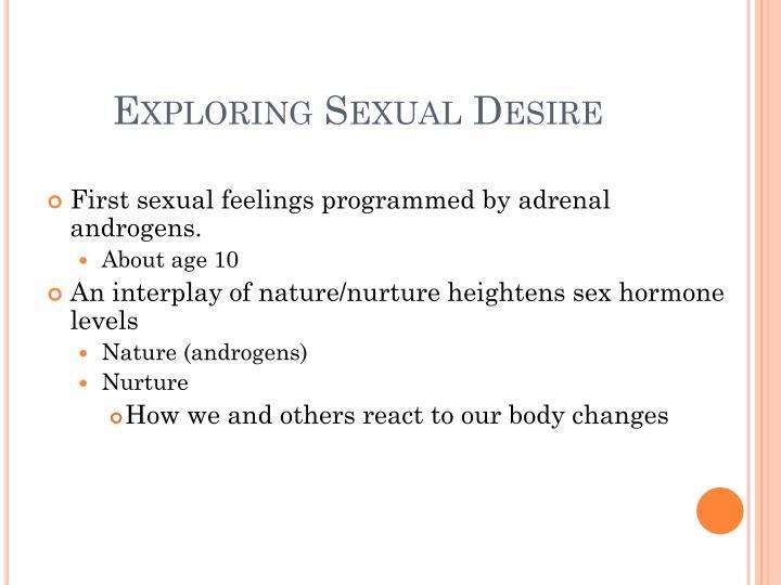 Exploring Sexual Desire