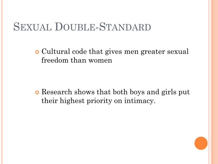 Sexual Double-Standard