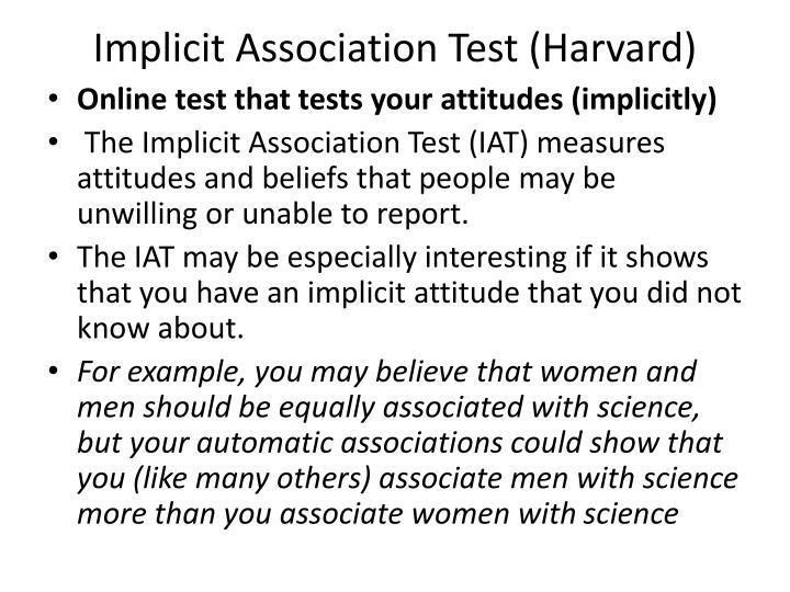 Implicit Association Test (Harvard)