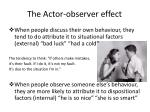 the actor observer effect