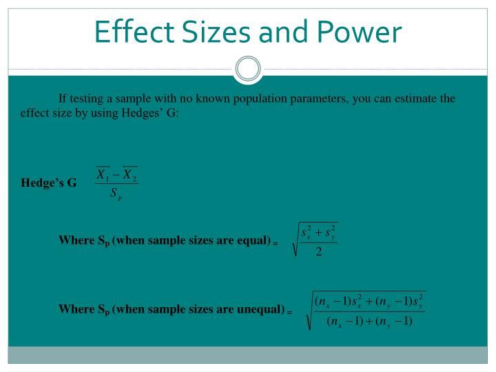 Effect Sizes and Power