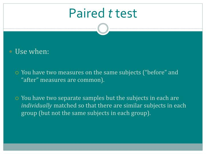 Paired t test1