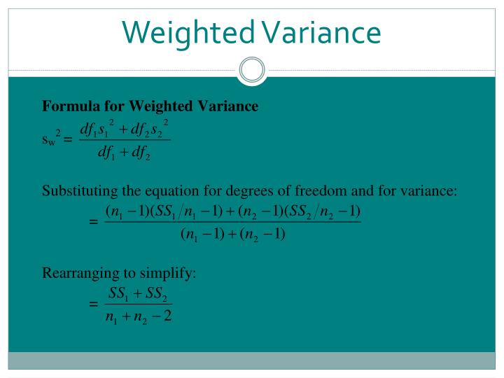 Weighted Variance