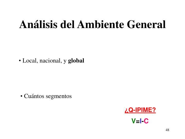 Análisis del Ambiente General