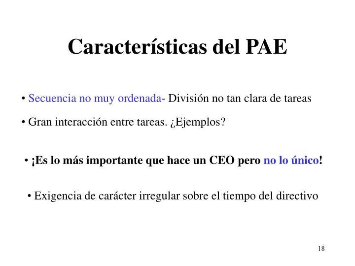 Características del PAE