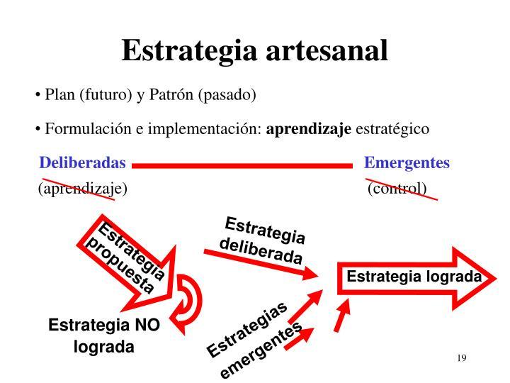 Estrategia artesanal