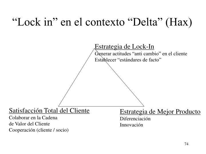 """""""Lock in"""" en el contexto """"Delta"""" (Hax)"""