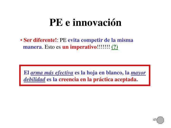 PE e innovación