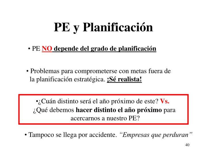 PE y Planificación