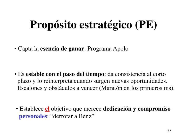 Propósito estratégico (PE)