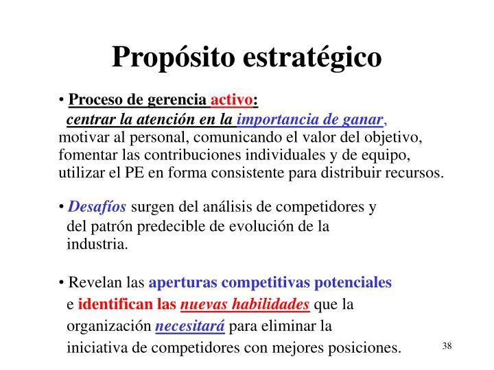 Propósito estratégico