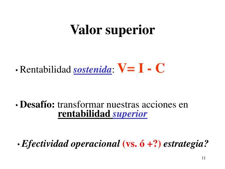 Valor superior