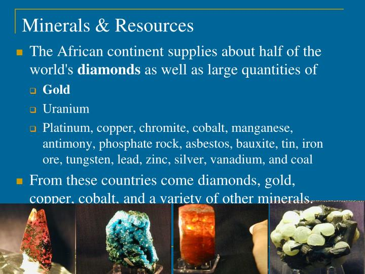 Minerals & Resources
