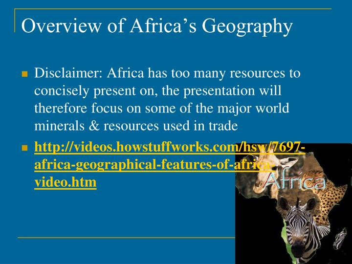 Overview of Africa's Geography