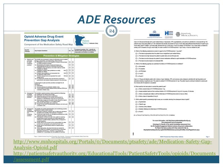 ADE Resources