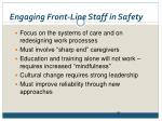engaging front line staff in safety