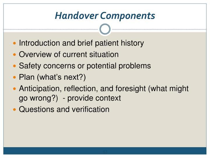 Handover Components