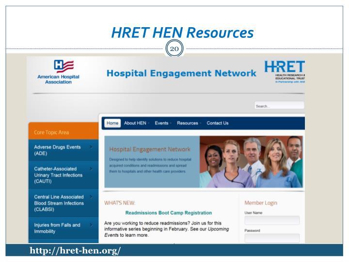HRET HEN Resources