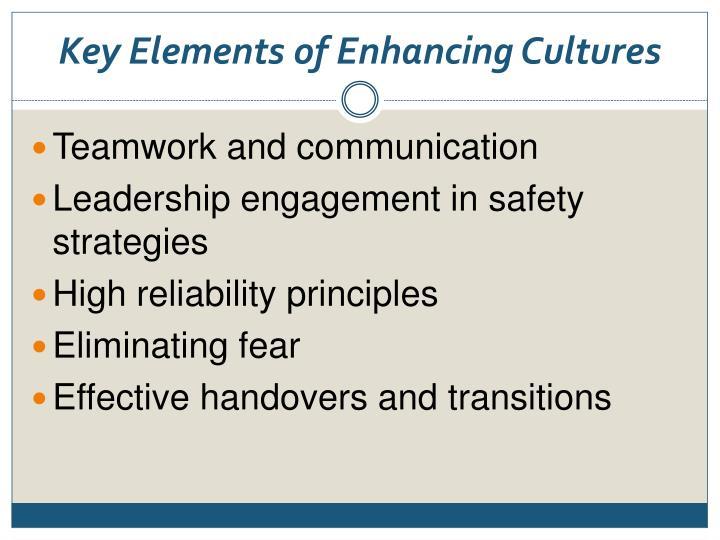Key Elements of Enhancing Cultures