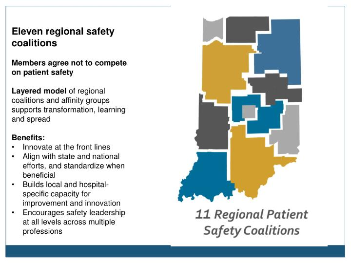 Eleven regional safety coalitions
