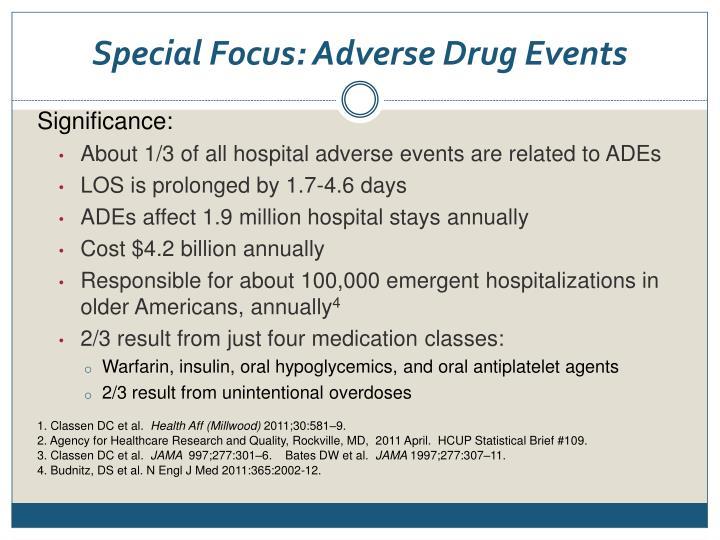 Special Focus: Adverse Drug Events