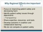 why regional efforts are important
