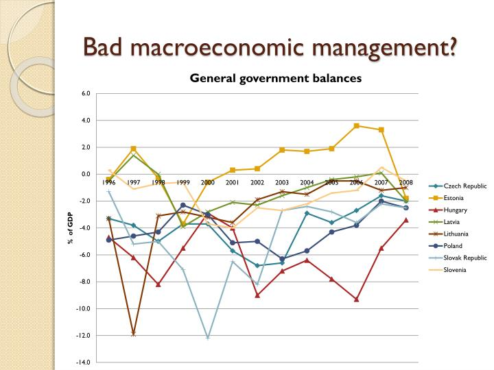 Bad macroeconomic management?