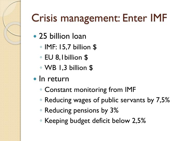 Crisis management: Enter IMF