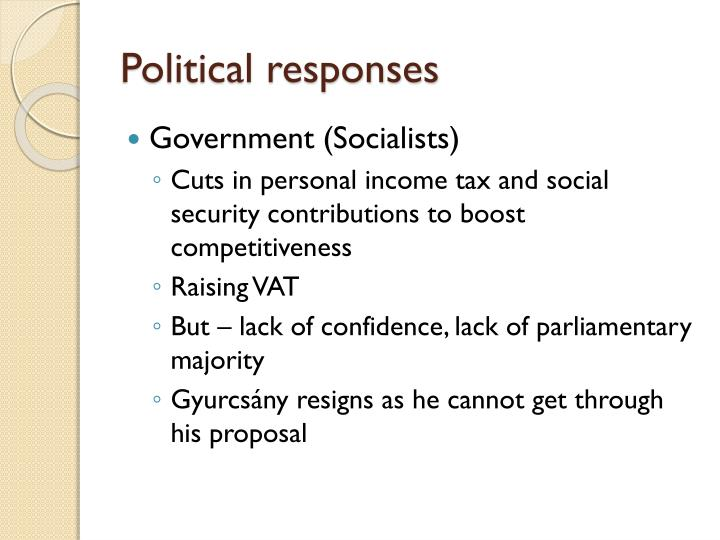 Political responses