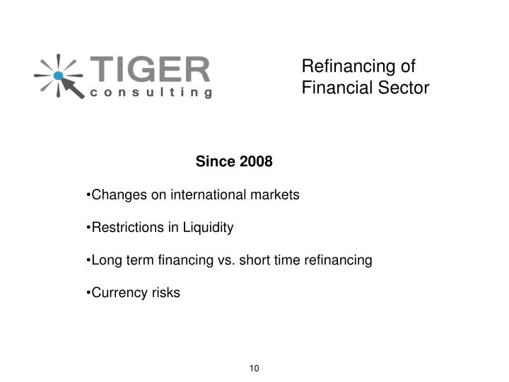 Refinancing of