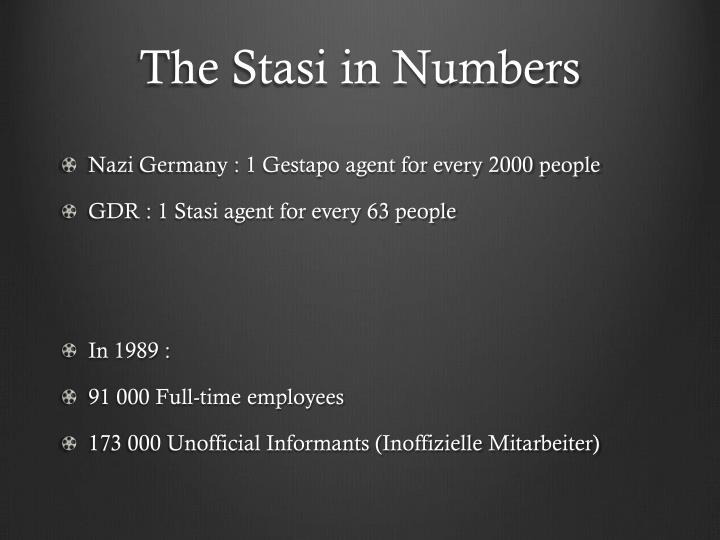 The stasi in numbers